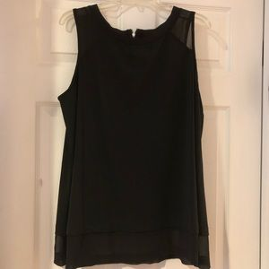 Like New Black Sleeveless Michel Studio Blouse